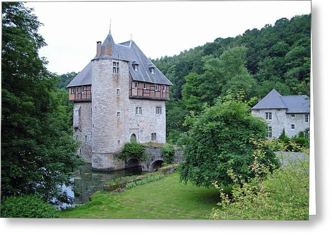 Moat Mountain Greeting Cards - Chateau de Crupet Greeting Card by Joseph Hendrix