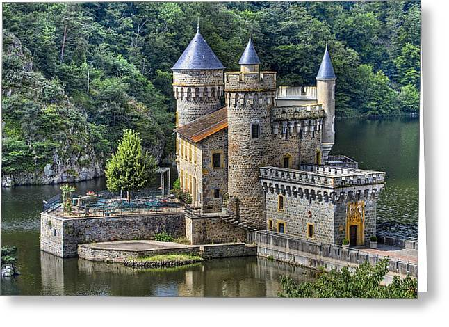 Chateau Greeting Cards - Chateau de la Roche Greeting Card by Debra and Dave Vanderlaan