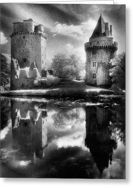 Moat Greeting Cards - Chateau de Largoet Greeting Card by Simon Marsden