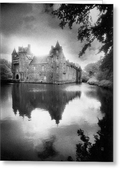 Moat Greeting Cards - Chateau de Trecesson Greeting Card by Simon Marsden