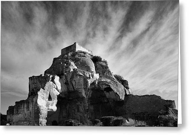 Village Views Greeting Cards - Chateau des Baux Greeting Card by Chateau des Baux
