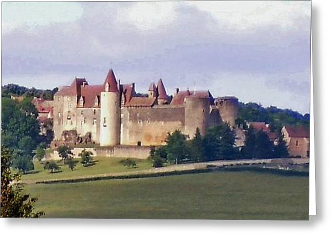 Provence Village Photographs Greeting Cards - Chateauneuf en Auxois France Greeting Card by Marilyn Dunlap