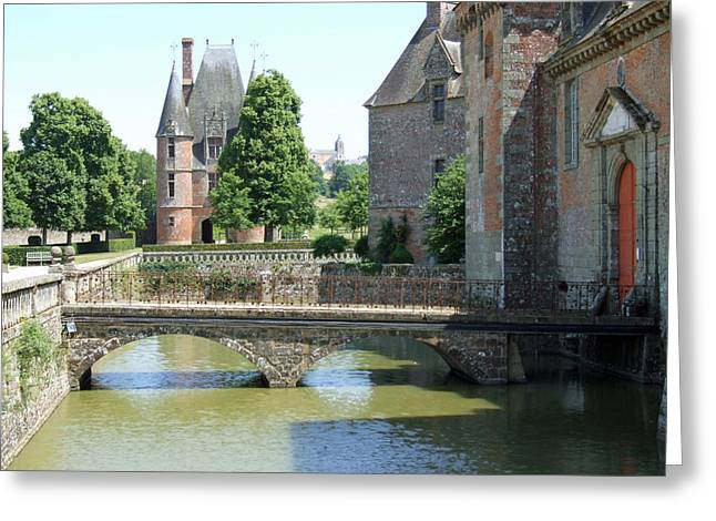 Moat Mountain Greeting Cards - Chateu Carrouges Normandy France  Greeting Card by Joseph Hendrix