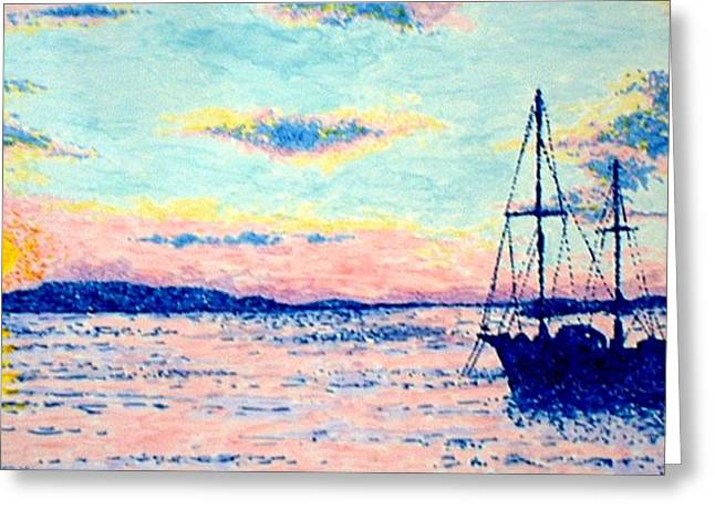 Chatham Paintings Greeting Cards - Chatham Greeting Card by Ben Leary