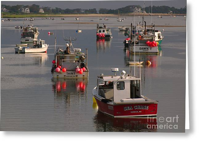 Chatham Harbor Greeting Card by Juergen Roth
