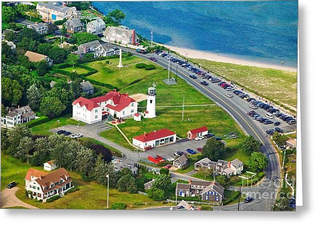Chatham Lighthouse Cape Cod Massachusetts Greeting Card by Matt Suess