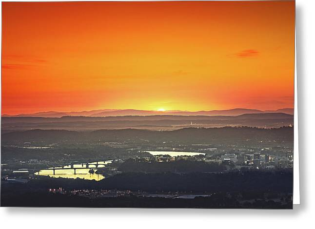 Chattanooga Sunrise Greeting Card by Steven Llorca