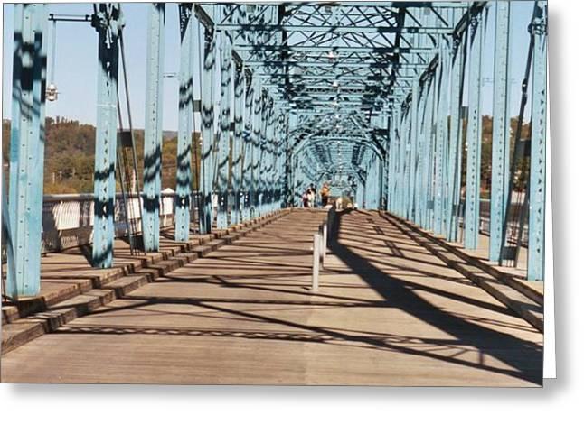 Chattanooga Walking Bridge Greeting Card by Jake Hartz
