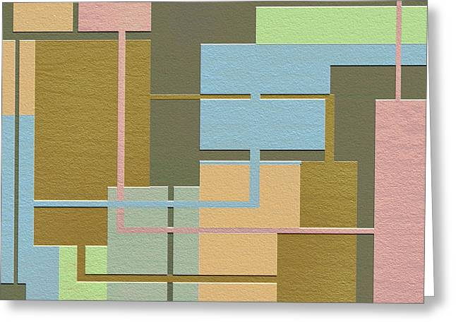 Geometrical Art Digital Art Greeting Cards - Check Greeting Card by Ely Arsha