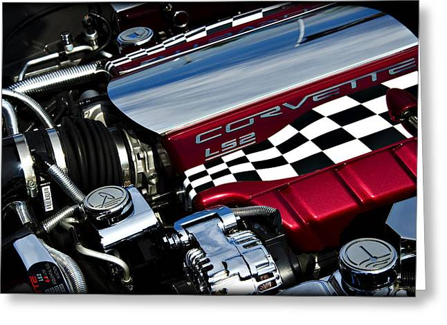 Checkered Flag Greeting Card by Ricky Barnard