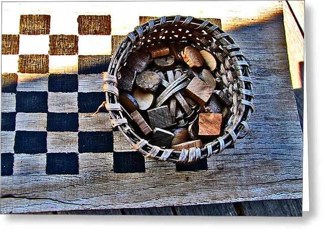 Checkers Greeting Card by Elisia Cosentino