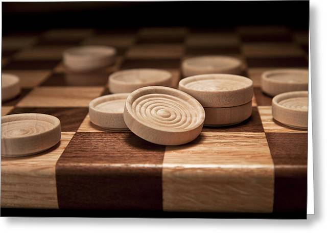 Board Games Greeting Cards - Checkers II Greeting Card by Tom Mc Nemar