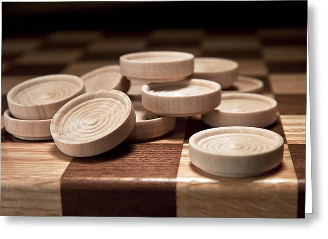 Board Game Greeting Cards - Checkers III Greeting Card by Tom Mc Nemar