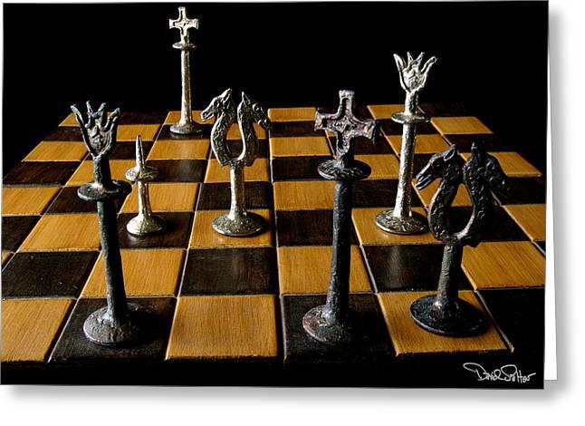 Checkmate Greeting Cards - Checkmate Greeting Card by David Salter