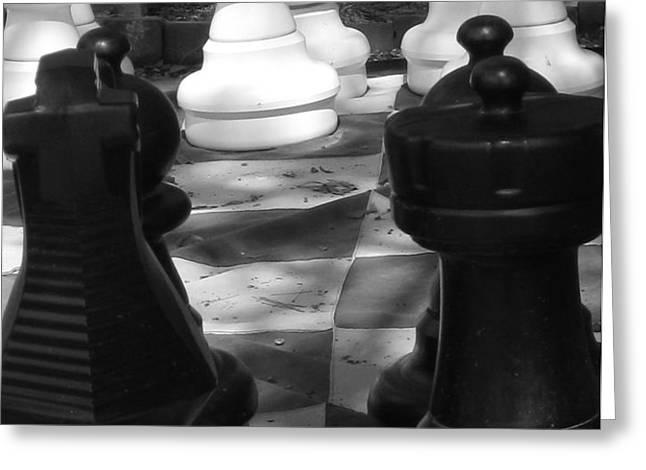 Checkmate Greeting Card by Jennifer Sabir