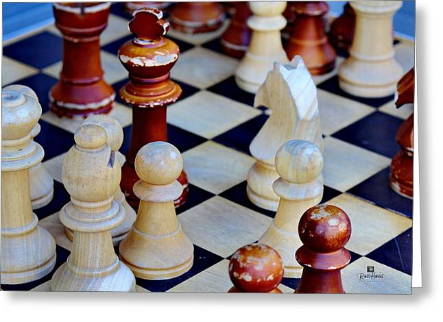 Checkmate Greeting Card by Russ Harris