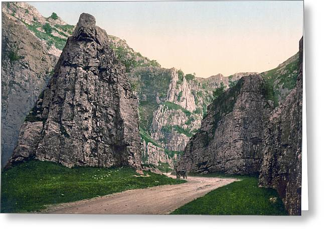 Historic England Greeting Cards - Cheddar - England - Cliffs Greeting Card by International  Images