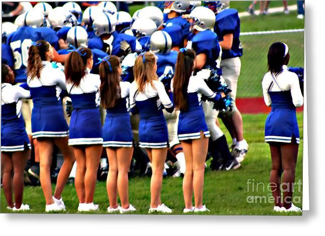 Applaud Photographs Greeting Cards - Cheerleaders Greeting Card by Susan Stevenson