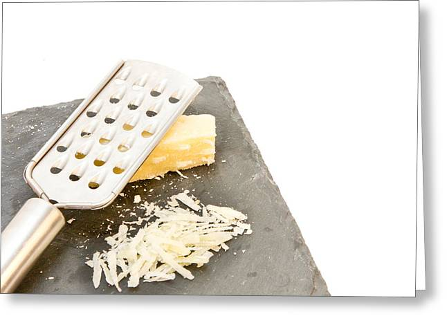 Grate Greeting Cards - Cheese grater Greeting Card by Tom Gowanlock