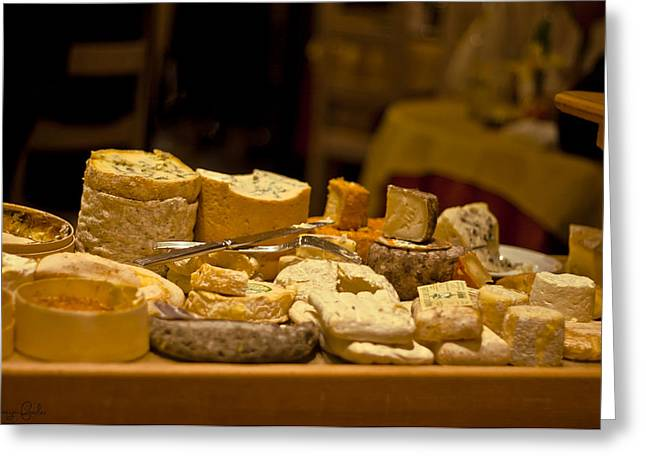 Cheese Selection Greeting Card by Nomad Art And  Design