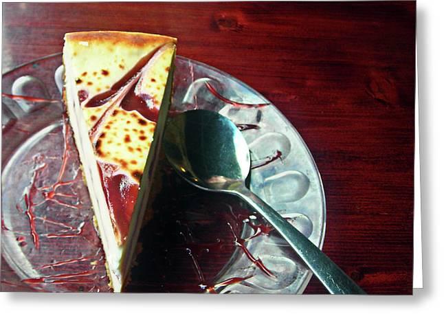 Michael Mckenzie Greeting Cards - Cheesecake Greeting Card by Michael McKenzie