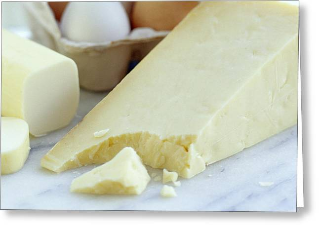 Cheeses And Eggs Greeting Card by David Munns