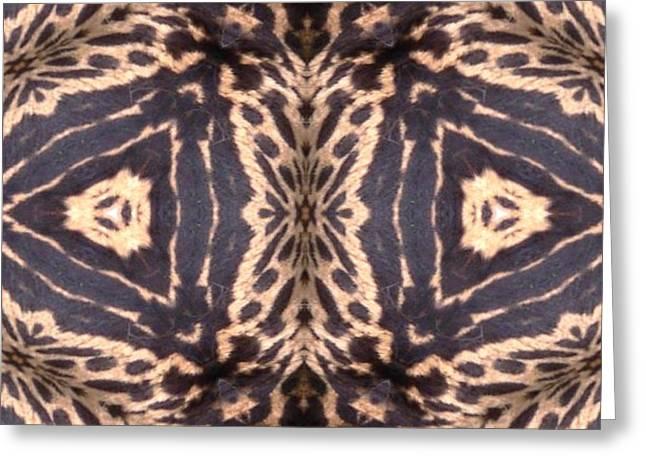 Cheetah Print Greeting Card by Maria Watt