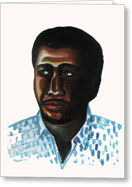 Louis Lumiere Greeting Cards - Cheick Oumar Sissoko Greeting Card by Emmanuel Baliyanga