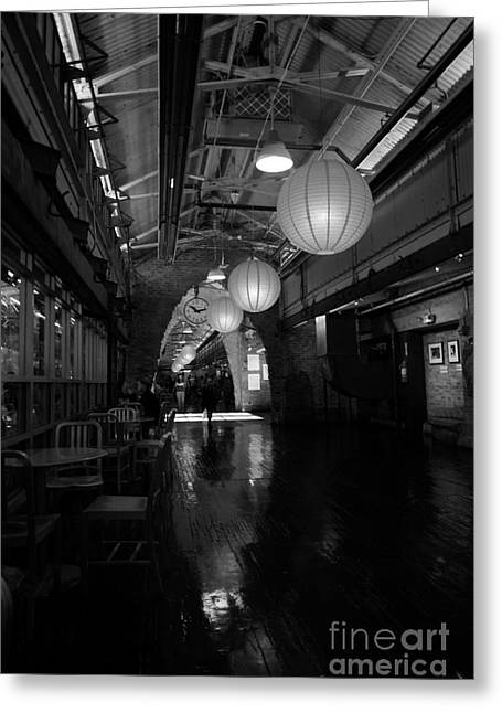 Chelsea Photographs Greeting Cards - Chelsea Market interior Greeting Card by David Bearden