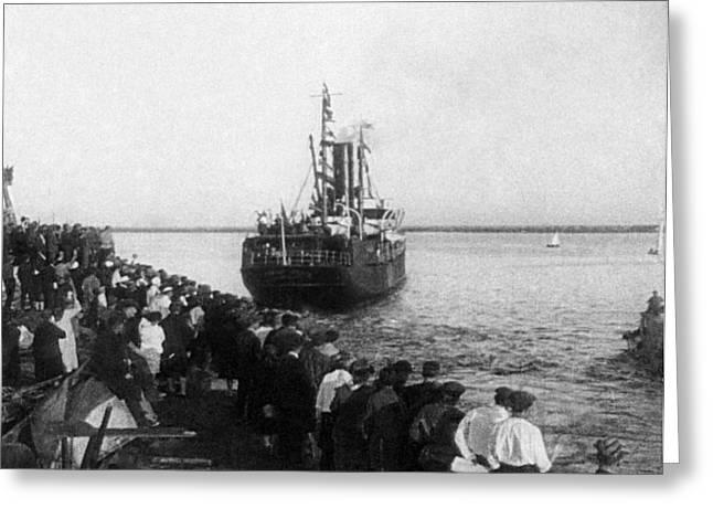 Archangel Greeting Cards - Chelyuskin Steamship, Arkhangelsk, 1933 Greeting Card by Ria Novosti