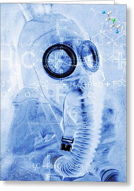 Terrorism Greeting Cards - Chemical Warfare Greeting Card by Mehau Kulyk