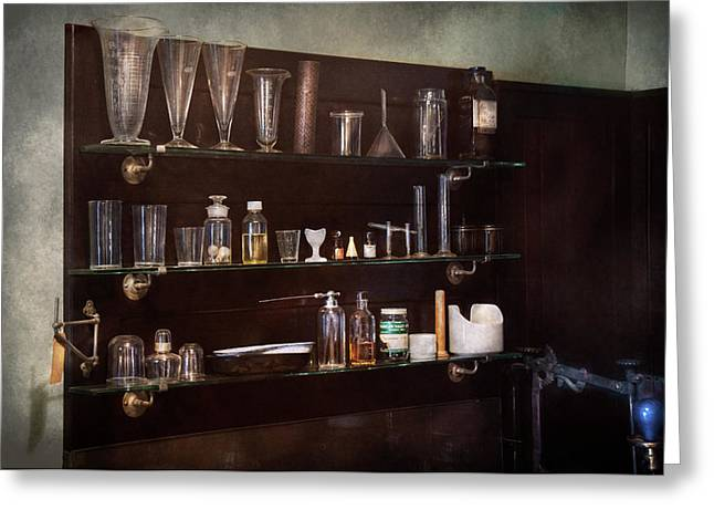Lessons Greeting Cards - Chemist - The Scientist  Greeting Card by Mike Savad