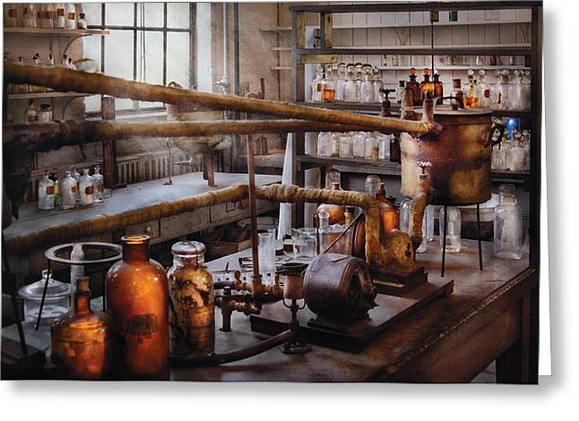 Chem Greeting Cards - Chemist - The Still Greeting Card by Mike Savad