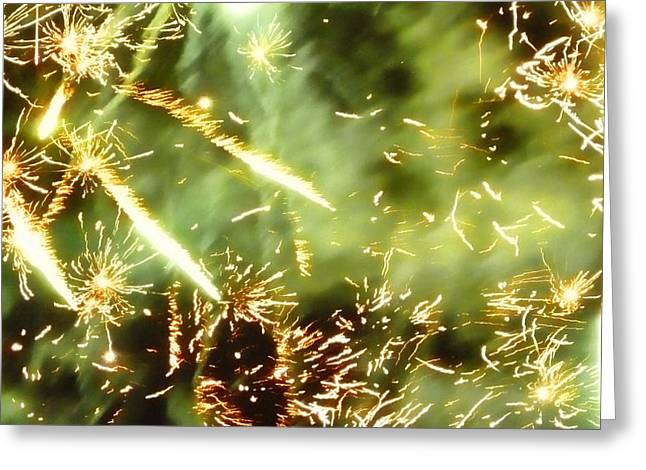 Bonfire Night Greeting Cards - Chemistry Greeting Card by Sharon Lisa Clarke