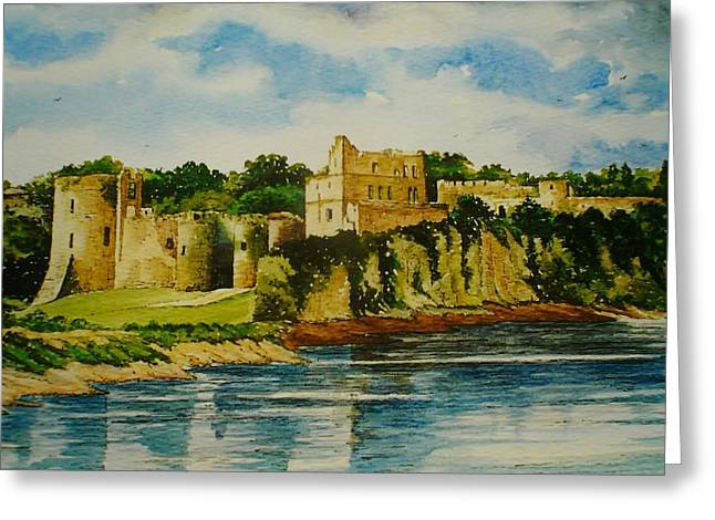 Chepstow Castle  Wales Greeting Card by Andrew Read