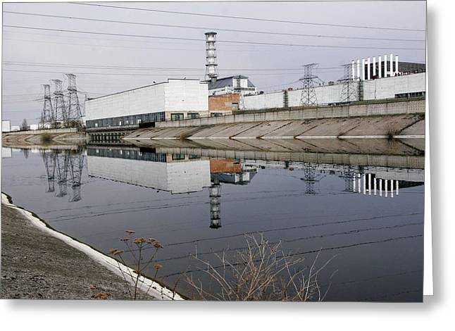 Power Plants Greeting Cards - Chernobyl Nuclear Power Plant, 2006 Greeting Card by Ria Novosti
