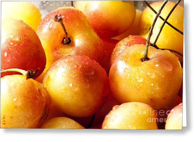 Sour Greeting Cards - Cherries Greeting Card by Blink Images