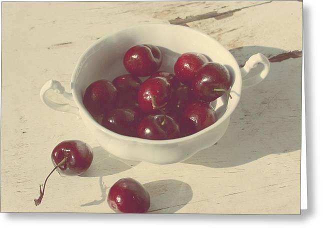 Berries Framed Prints Greeting Cards - Cherries Still Life  Greeting Card by Svetlana Novikova