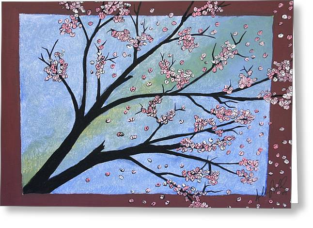 Cherry Blossoms Paintings Greeting Cards - Cherry Blossom Greeting Card by Anthony Nold