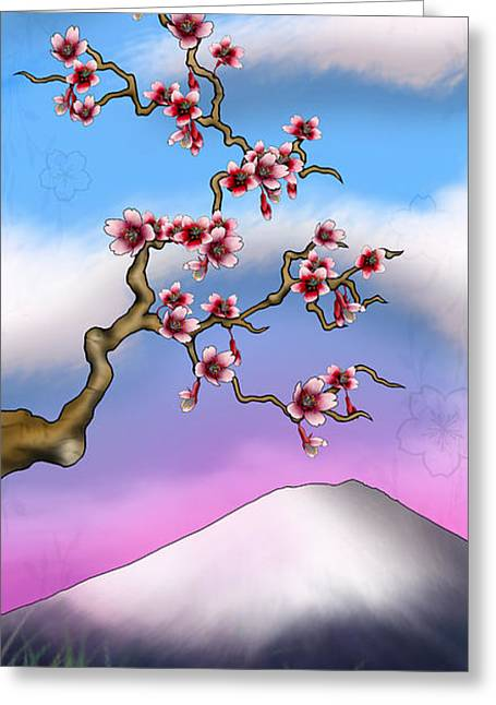 Vista Mixed Media Greeting Cards - Cherry Blossoms Greeting Card by Anthony Citro