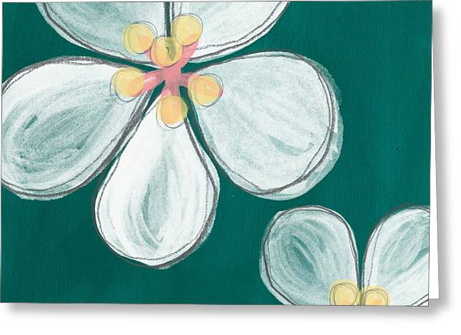 Cherry Greeting Cards - Cherry Blossoms Greeting Card by Linda Woods