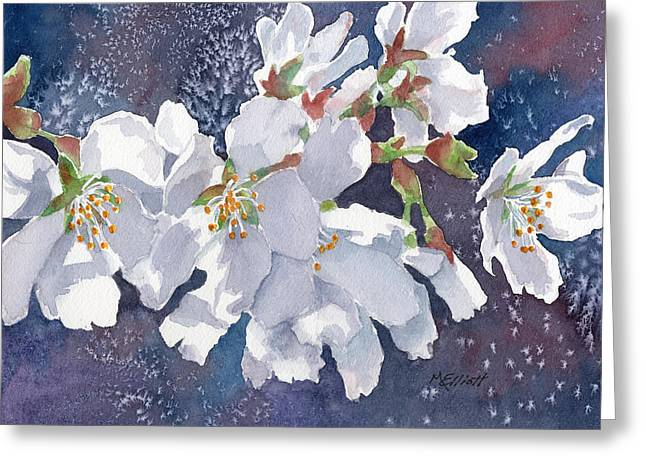 Cherry Blossoms Paintings Greeting Cards - Cherry Blossoms Greeting Card by Marsha Elliott