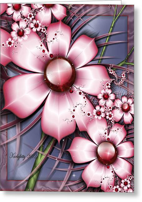 Karlajkitty Digital Art Greeting Cards - Cherry Candy Greeting Card by Karla White