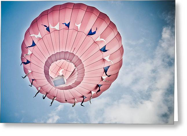 Hot Air Balloon Ride Greeting Cards - Cherry On Top Greeting Card by Trish Tritz