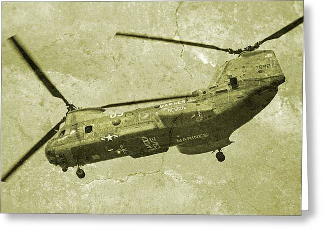 Chinook Greeting Cards - Cherry Point Marines  Greeting Card by Betsy C  Knapp