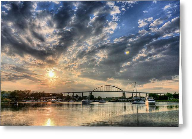 Delmarva Greeting Cards - Chesapeake City Greeting Card by JC Findley