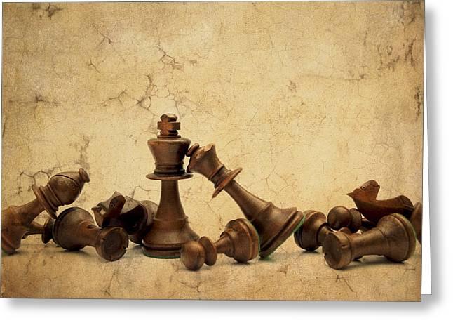 Game Piece Greeting Cards - Chess game Greeting Card by Bernard Jaubert