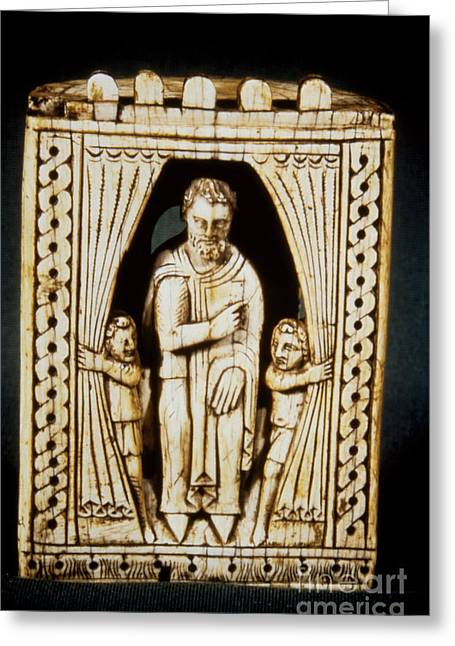 11th Century Greeting Cards - CHESS PIECE, 11th-12th C Greeting Card by Granger