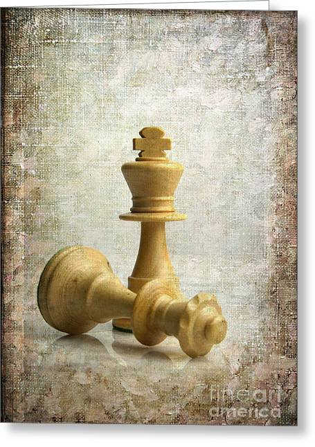 Chess Greeting Cards - Chess pieces Greeting Card by Bernard Jaubert