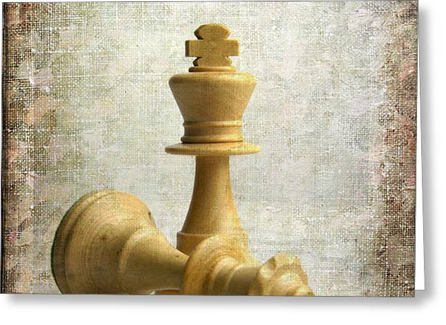 Chess pieces Greeting Card by BERNARD JAUBERT